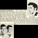 Cashbox announcement of Elvis and Jimmy & Johnny show in Memphis.