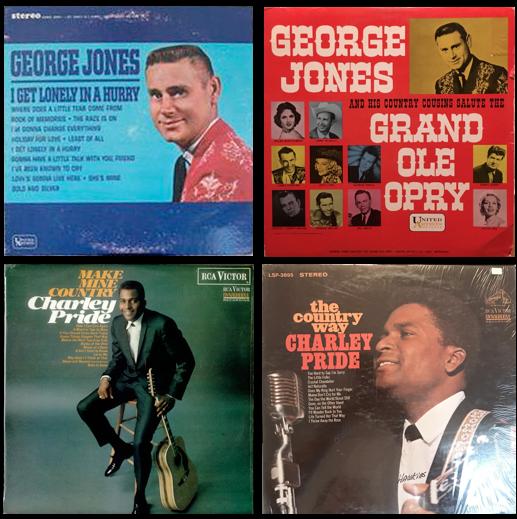 George Jones, Charley Pride