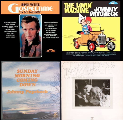 Johnny Paycheck, 'Golden Ring' album, George Jones and Tammy Wynette, Nashville songwriter's hall of fame, country music albums, billboard album charts
