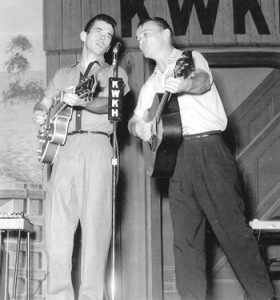 Jimmy & Johnny Mathis on stage KWKH