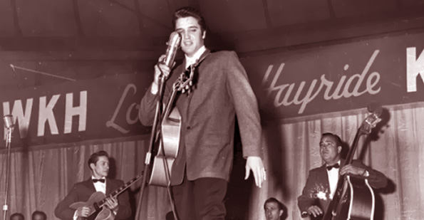Elvis, The Louisiana Hayride, Tillman Franks, Jimmy and Johnny, Country People Magazine, Country Johnny Mathis, Country Music, Hillbilly Music